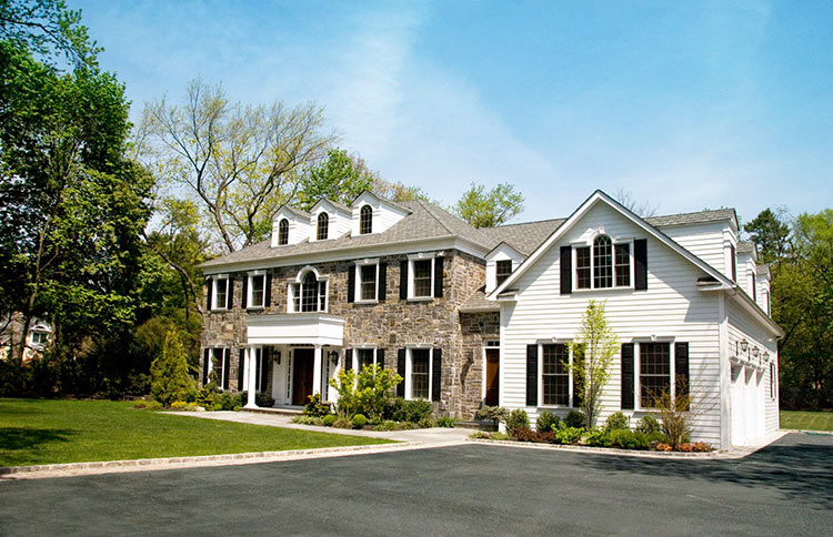 Old World Stone and Clapboard Syosset Home