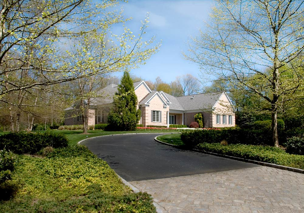 High End Brick Colonial Residential Architecture Upper Brookville