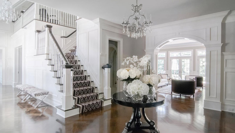 Traditional White Foyer Entry Interior Design