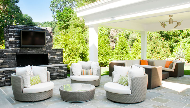 Long Island Residential Patio Architecture and Landscape Design